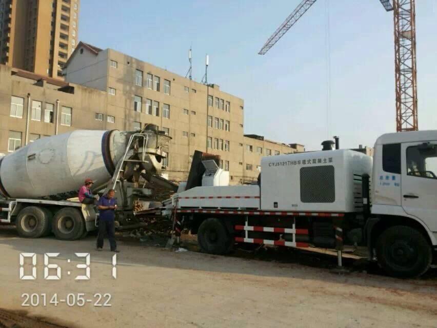 车载泵施工现场